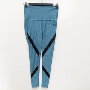 Puma S 8 10 Teal High Waisted Activewear Leggings